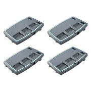 Stupid Car Tray Multi Function Food And Drink Travel Organizer, Gray/mint 4 Pack