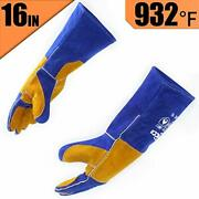 Rapicca Leather Forge Welding Gloves Heat/fire Resistant, Mitts For Oven/grill/f