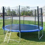12ft Kid Trampoline Combo Bounce Jump Safety Enclosure Net W/spring Pad Ladder A