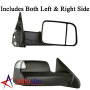 Pair Power Heated Towing Mirrors Side Turn Signal For 02-08 Dodge Ram Pickup
