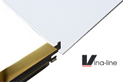 Vinyl Ceiling Tiles Wipeable 595x595 And Polished Gold Grid Per 5m2 Complete Kit