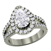 Sold 3.0ct T.w. Pear-shaped Diamond Frame Split Shank Engagement Ring 925 Silver