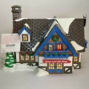 Department 56 Snow Village Collection Skate And Ski Shop - Mint Christmas Display