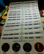 Franklin Mint Proof-like Dollar Gaming Tokens. 1966 Series Group 14 Set 1301.