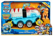 New Paw Patrol Dino Rescue Patroller Motorized Team Vehicle Chase T Rex Figure