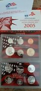 2005 Us Mint Silver Proof Set In Red Box With Coa 11 Coins - Clean Blemish-free