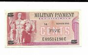5 Cents Mpc Series 692 Military Payment Certificate Note 90e Choice Cu Currency