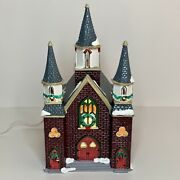 Department 56 Snow Village Collection St. Luke's Church - Mint Christmas Display