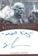 Game Of Thrones S8 Inscription Autograph Card Signed By Richard Brake  3