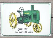 John Deere Advertising Metal Tin Sign Quality For Over 100 Years New Old Stock
