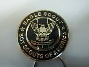 009 Andldquoeagle Scoutandrdquo Key Ring In Gold Writing Over Black