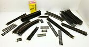 Lot Of 70 Atlas Ho Brass Rail Snap Track Curves Straight Bumpers Mix Of 2-12.5