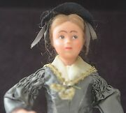 Vintage Antique French Molded Plastic Doll With Hand Made Clothes Vv608