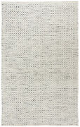 Rizzy Rugs Gray Contemporary Banded Dotted Crosshatch Area Rug Geometric Win101