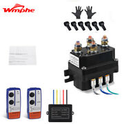 Fit For Kfi Warn Atv Winch Solenoid Contactor Relay Switch + 2pcs Remote Control