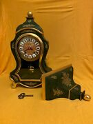 Vintage Swiss Made Zenith Rococo 8 Day Boulle Type Mantel Bracket Clock
