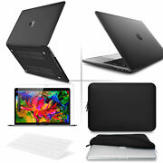 4 In1 Blk Crystal Clear Case For Macbook Air Pro 13 15and039and039 Itouch +key +lcd +bag