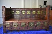 Balinese Hand Carved Wooden Elephant Daybed- Pristine Condition- One Of A Kind