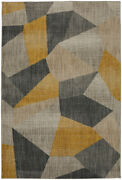 Mohawk Silver Contemporary Fractal Abstract Area Rug Geometric 91001 10039