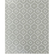 Mohawk Gray Rounded Curved Repeat Contemporary Area Rug Geometric 91034 2035