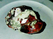 20.73ct Vvs1 Clinohumite Rare Deep Red Orange And Green Crystals W/ White Humite