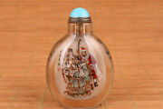 Chinese Natural Crystal Hand Painting Taoyuan Sworn Snuff Bottle