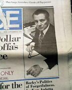 Great Jimmy Hoffa Teamsters Labor Union Leader Disappearance 1975 Old Newspaper