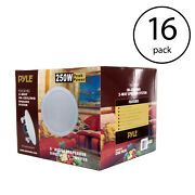 Pyle 8 Inch 500w 2 Way In Wall Ceiling Home Speakers System Audio Pair 16 Pack