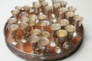 Gorham Communion Set Sterling Silver 32 Cups With Tray 651 G