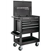 30 In. 5 Drawer Mechanicand039s Tool Cart Cabinet - Black