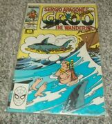Sergio Aragone's Groo Signed Remark And Sketch 54 1989 Marvel Comic Fine