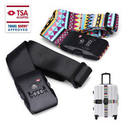 Superior Strength Luggage Strap With Tsa Combination Lock Suitcase Baggage Belt