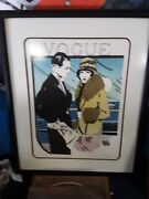 Large Vintage Signed Lithograph By Leslie Andrews--vogue--200 Of 300--wow