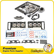 Head Gasket Bolts Set Timing Chain Oil Water Pump Kit Fit 02-06 Chrysler 2.7l