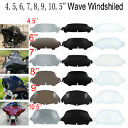 4.5 6 7 8 9 10 Wave Windshield Windscreen For Harley Touring Electra Glide