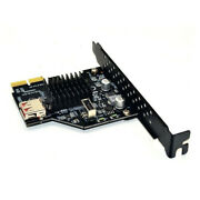 Pcie To Usb 3.1 Type E Front Panel Socket Adapter Card Express For Motherboard