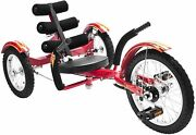 Mobo Mobito Ultimate Three Wheel Cruiser Kids Youth Ride On 16 Red Trike New