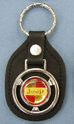 Rare Classic Jeep Logo Steering Wheel Black Leather Key Ring Key Fob Jeepster