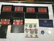 8pc Lot United States Mint Uncirculated And Proof Coin Sets 1971-1979 Mixed Lot