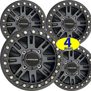 4 Bead Lock Aluminum Atv Rims Wheels 15x7 4/137 5+2 Kawasaki Mule 2000 - 4000