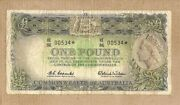 D112. 1961 Type Coombs / Wilson Australian One Pound Star Note He86 00534