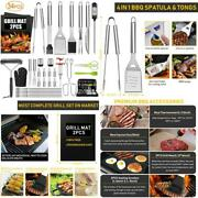 34pcs Bbq Grill Accessories Tools Set Stainless Steel Grilling Tools With Carry