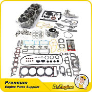 Head Gasket Timing Chain Oil Water Pump Cylinder Head Set Fit 85-95 2.4l Toyota