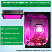 1000w Led Grow Light Kit Full Spectrum + 4and039 X 2and039 Hydroponic Grow Tent Grow Room
