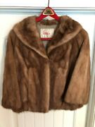 Vintage Womanand039s Mink Fur Jacket From Original Hessand039s Department Store Allentown