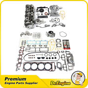 Timing Chain Cover Head Gasket Oil Water Pump Cylinder Head Set Fit 85-95 Toyota