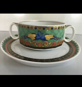 Versace Marco Polo Plate Bowl Saucer Set Soup Cereal Fruit Limited Rare Sale
