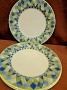 Royal Doulton Carmina 3 Of The 11 Inch Dinner Plates Harlequin Free Shipping