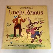 Vintage Walt Disney Uncle Remus Splash Mountain Song Of The South Lp Record 1963
