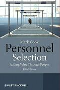 Personnel Selection 5e - Adding Value Through People By Cook, Mark Paperback The